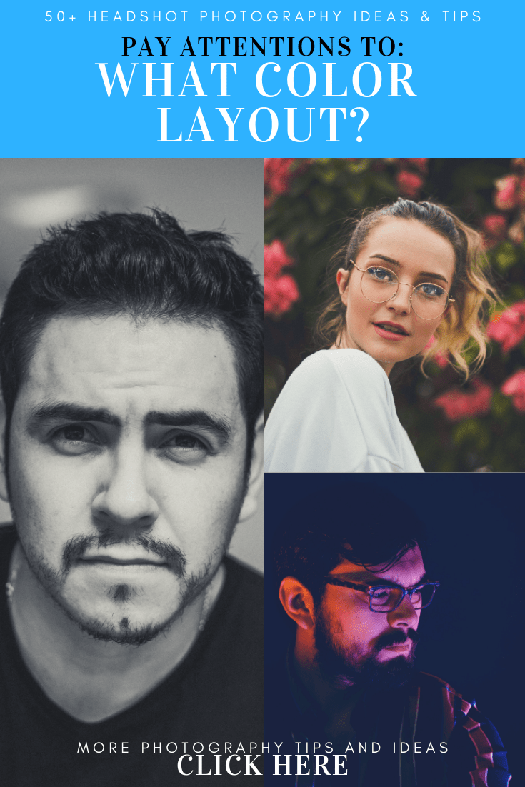 color layout of headshot photography ideas