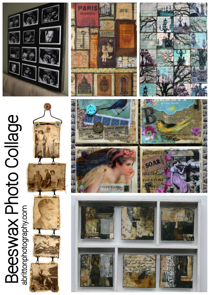 beeswax photo collage ideas