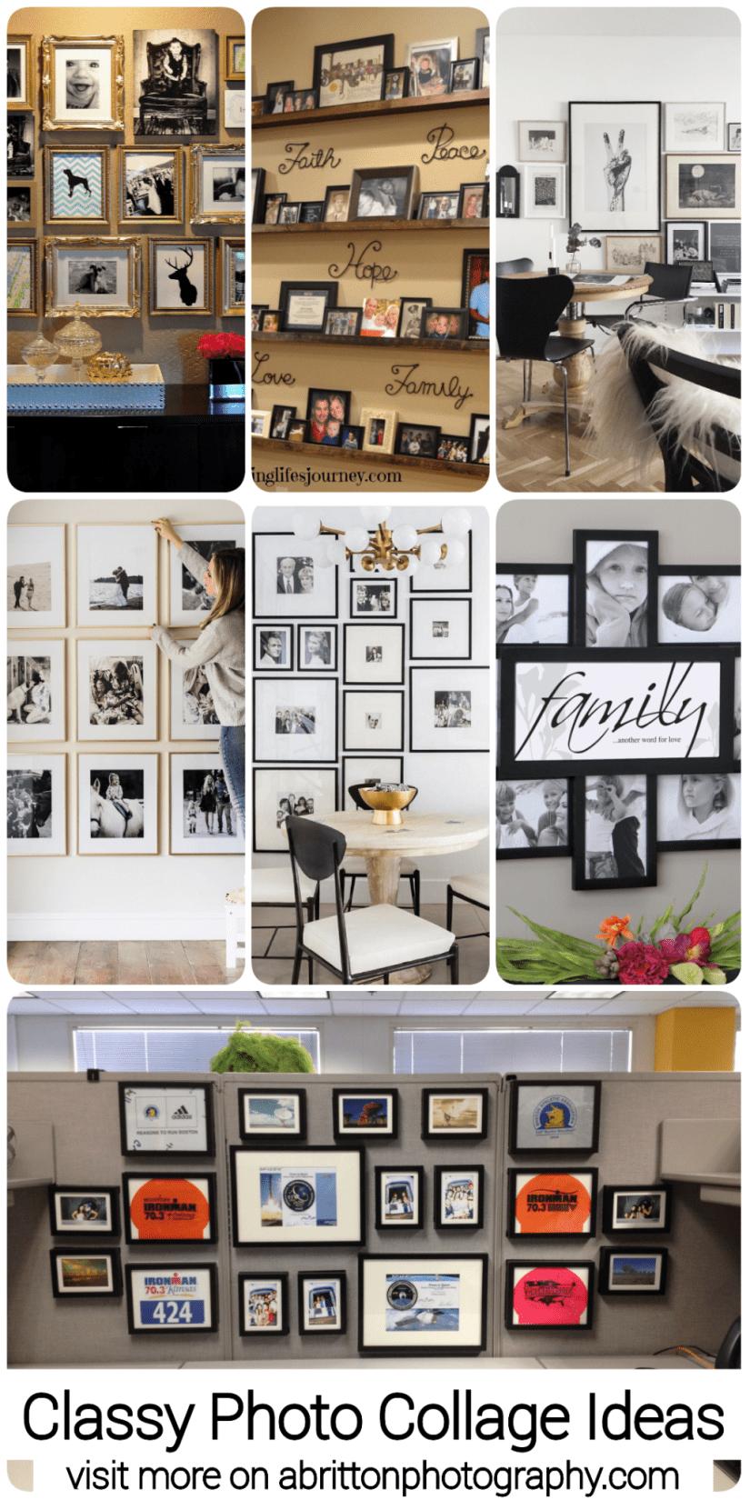 classy photo collage ideas