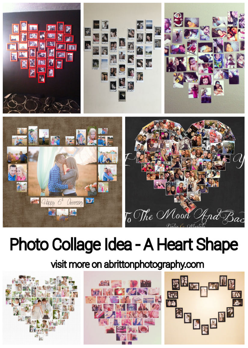 heart shape photo collage ideas