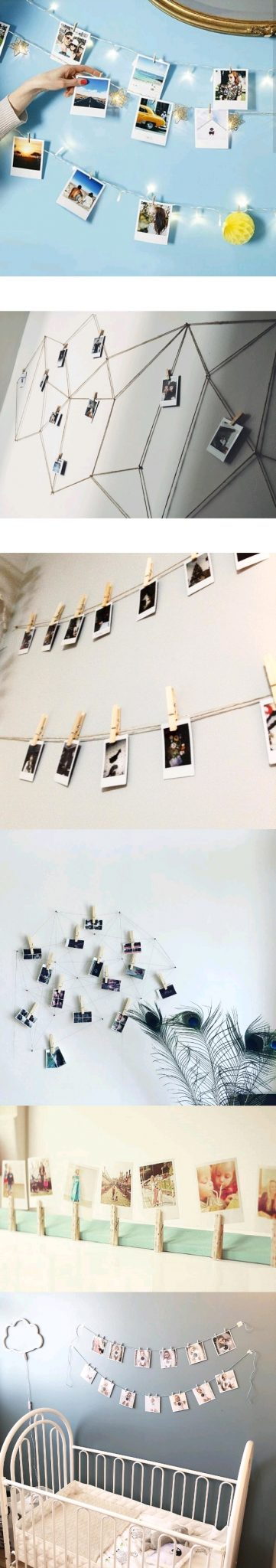 polaroid display clothespin