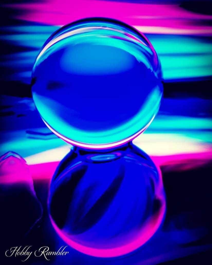 Crystal Ball Light Painting Ideas