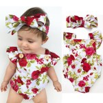 newborn photography props girl floral clothes