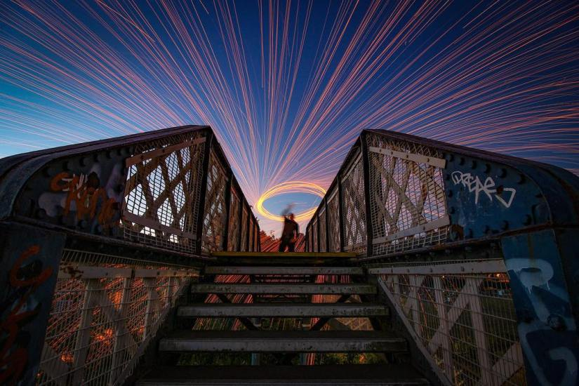 Composition of Steel Wool Photography Portraits