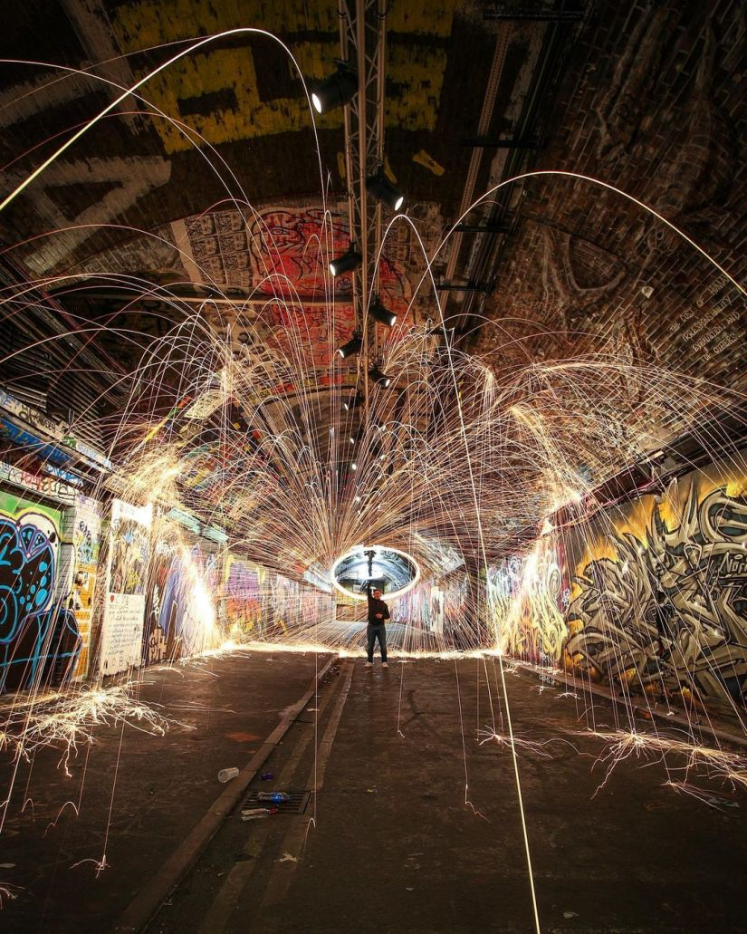 Steel Wool Photography Background Ideas