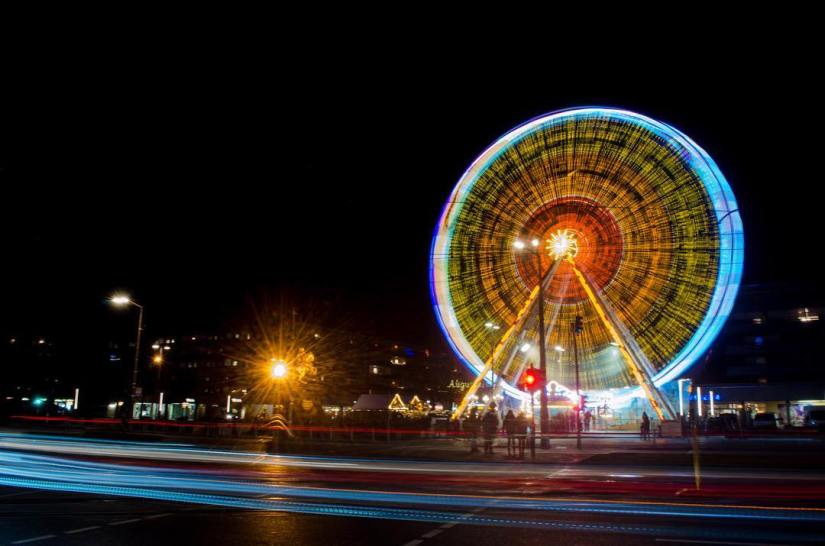 ferris wheel photography night long exposure