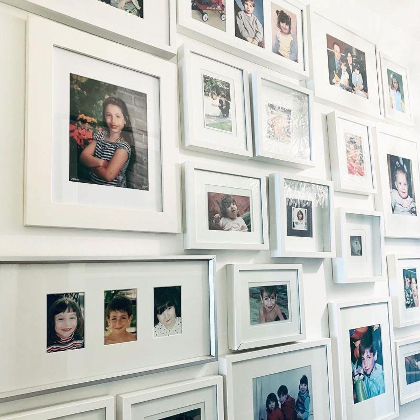 photo collage wall decor diy