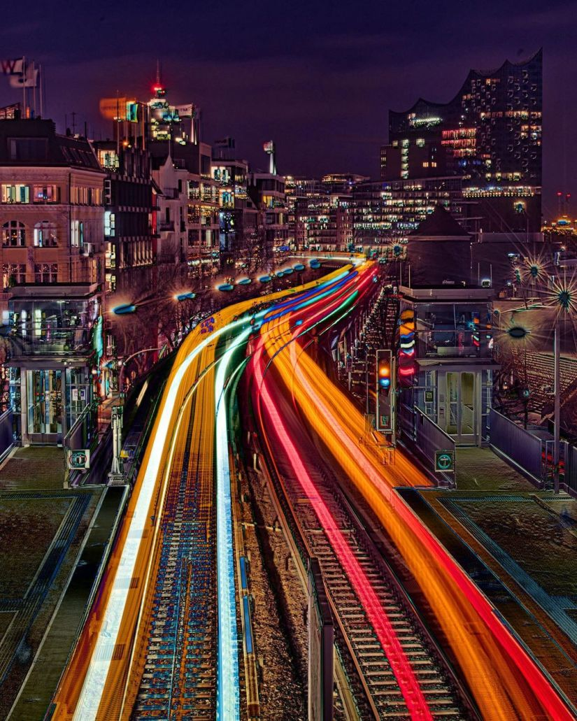 Awesome street night light painting ideas