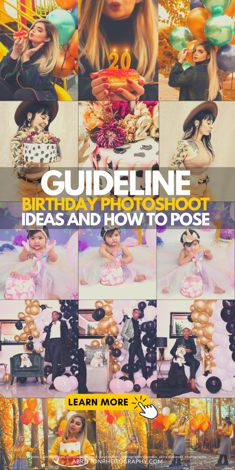 Birthday Shoot Ideas and How to Posing Guide