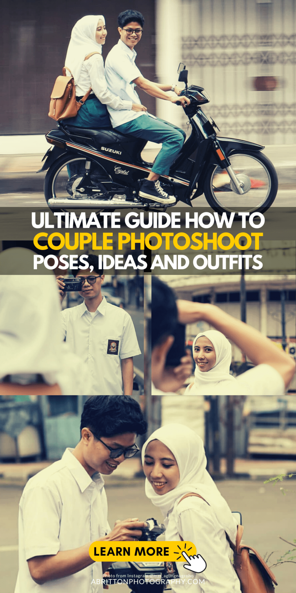 Ultimate Guide How to Take Couple Photoshoot Poses, Ideas and Outfits