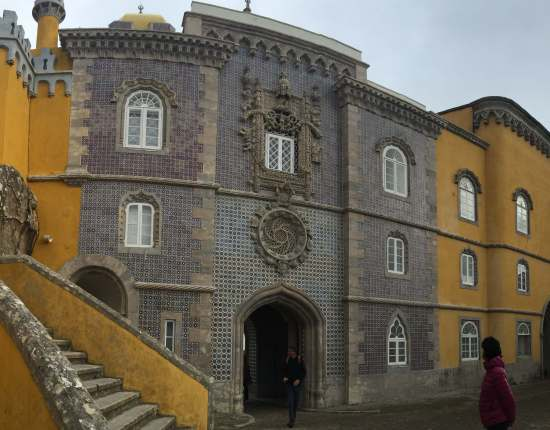 Pano  Pena National Palace Sintra Portugal