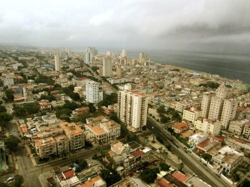 Aerial shot of Havana