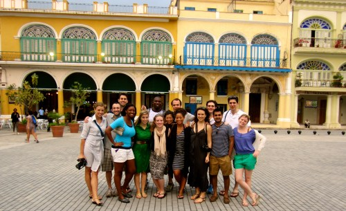 The entire group in old town Havana