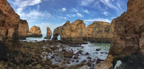 Portugal Road Trip Ponta de Piedad Lagos cliffs