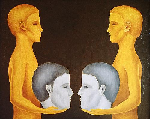The Art of Dialogue - Training course - Austria - Credit: http://www.paintingofrussia.com/ - Dialogue surrealist art - oil painting
