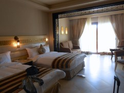 Beautiful hotel room.