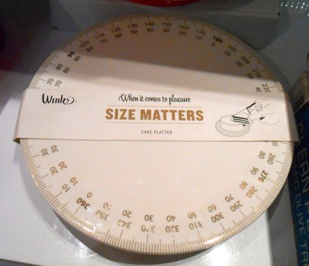 Size matters, folks. Especially on a cake plate.