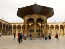 The courtyard of the mosque where