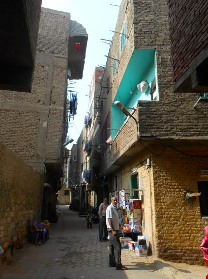 A narrow street in old Islamic Cairo. I'm amazed that our driver got his car down these twisty ways.