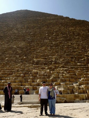 Joe and I at the Pyramid of Khufu (aka Cheops).