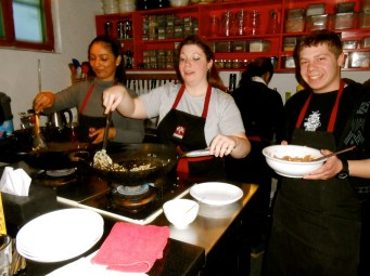 Cooking class with Nick in Beijing.