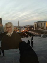 Agnes overlooking Brussels