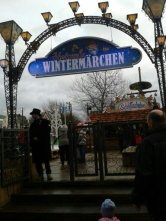 The entrance to the ice skating rink at the Koln Christmas Market