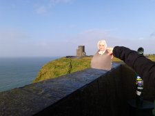 Flat Agnes looking at O'Brien's Tower at the Cliffs of Moher