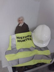 Flat Agnes learning how to be a history hunter at the Dublinia museum in Dublin, Ireland