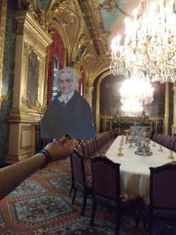 Flat Agnes in the apartment of Napoleon III at the Louvre