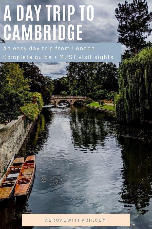 london to cambridge day trip