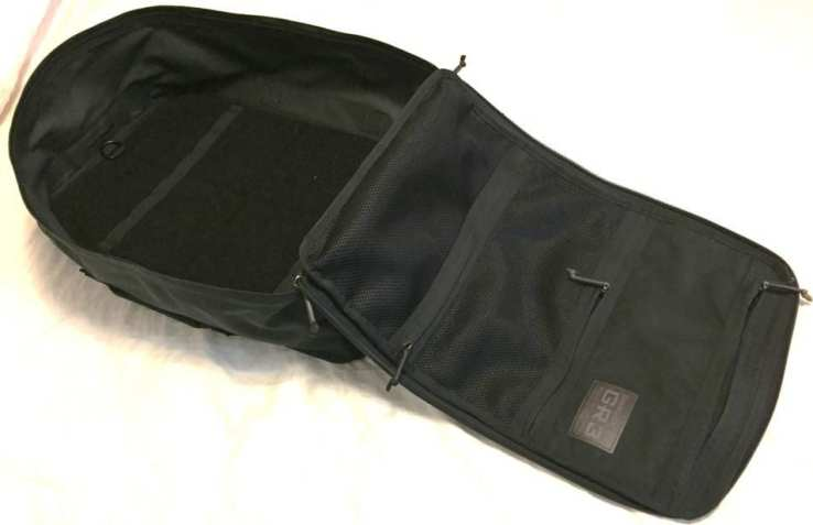 "The 9"" deep main compartment with wrap around zipper with clam shell design make all 45 liters of the GORUCK GR3 easily accessible and usable - exactly what's need in a carry on travel backpack"