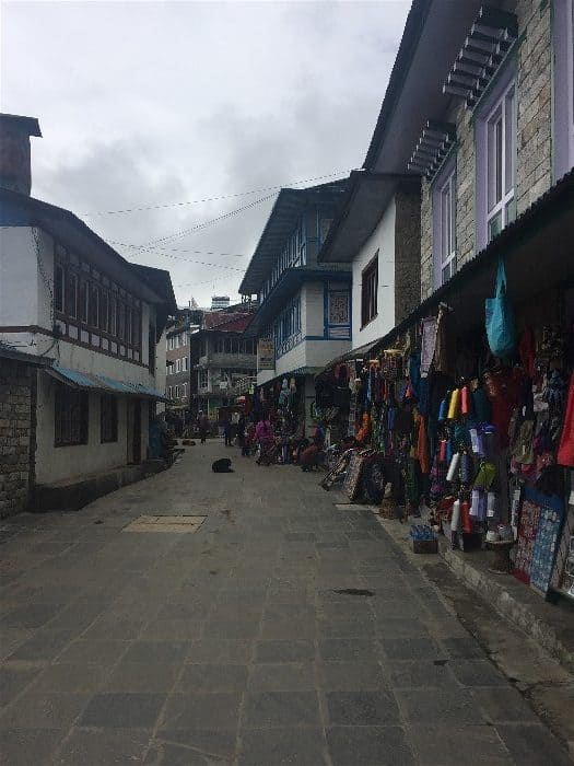 The main street of Lukla Town