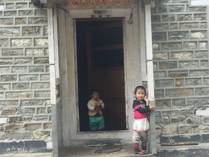 Lovely Nepali kids on the Everest Base Camp Trek - shy but friendly