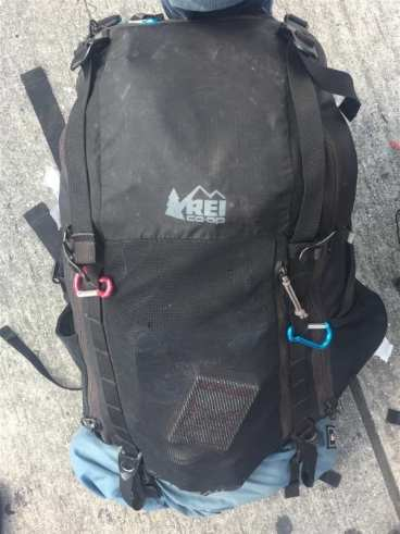 My beloved backpack! 40 liter REI Trail weighed in at 10kgs/22lbs and carried everything I needed for the EBC Trek