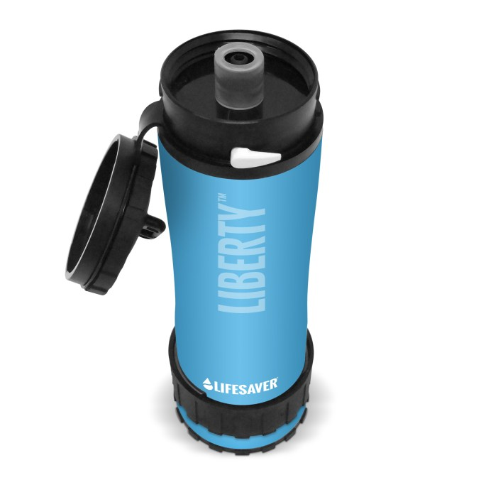 The Lifesaver Liberty Bottle Travel Water Purifier is a great water purification option while traveling to rural and third world areas