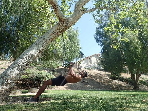 Recreating weighted workouts with a suspension trainer