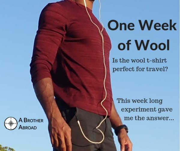 1 Week Experiment proving that the wool t shirt and the merino wool t shirt make the best travel t shirt