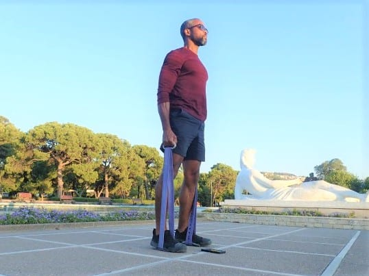 The best shoes for men that travel.   From running, to hiking, to weights, to band assisted travel workouts, the Altamas were suitable  any activity I threw at them.