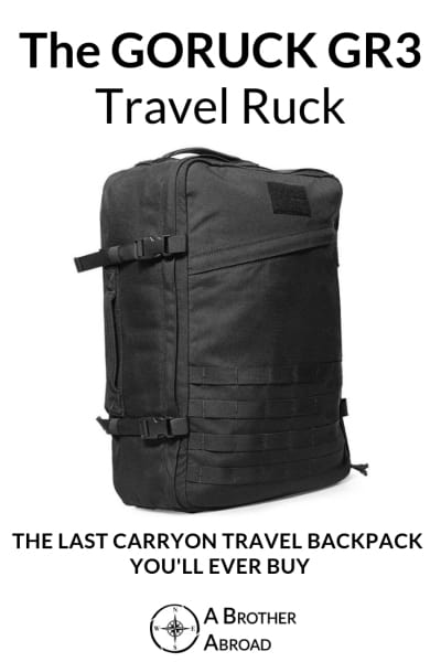 GORUCK GR3 Review:  The best carry on backpack for durability and guaranteed to last a lifetime.