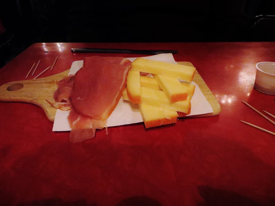 Ham and cheese for dinner at Monk...