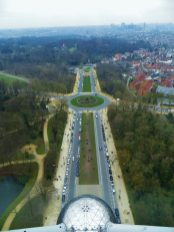 View from the Atomium