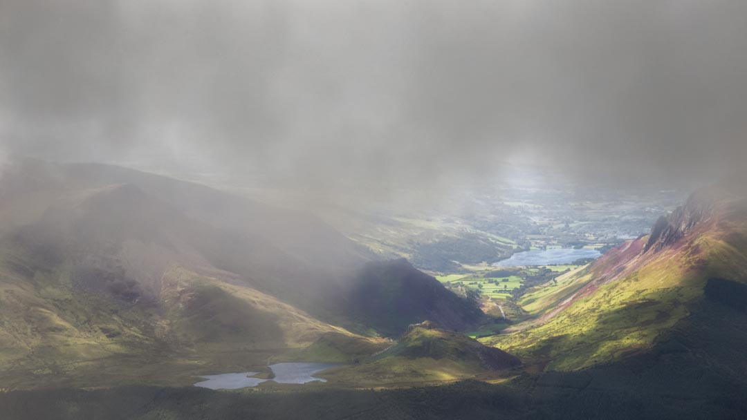 It had been a cloudy ascent up the Llanberis path, so it was something of a joy to finally get these beautiful views