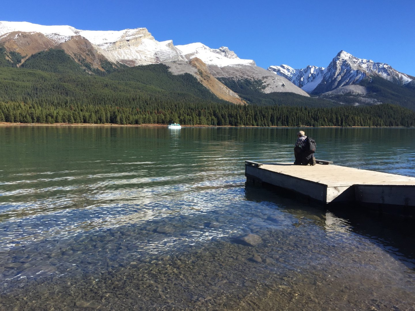The beautiful Maligne Lake, Jasper National Park