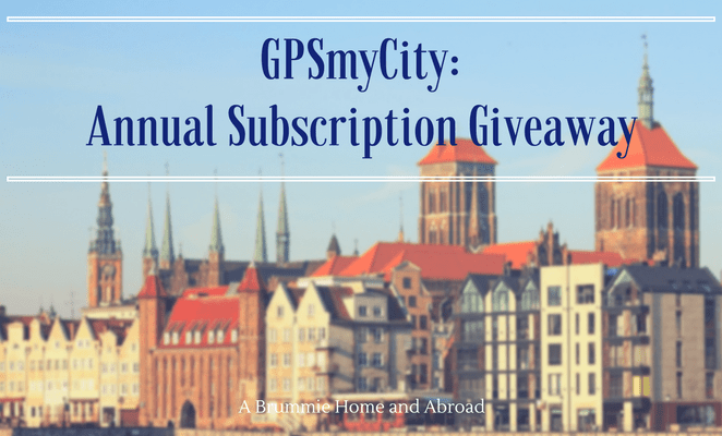 Giveaway! Annual Subscription for GPSmyCity