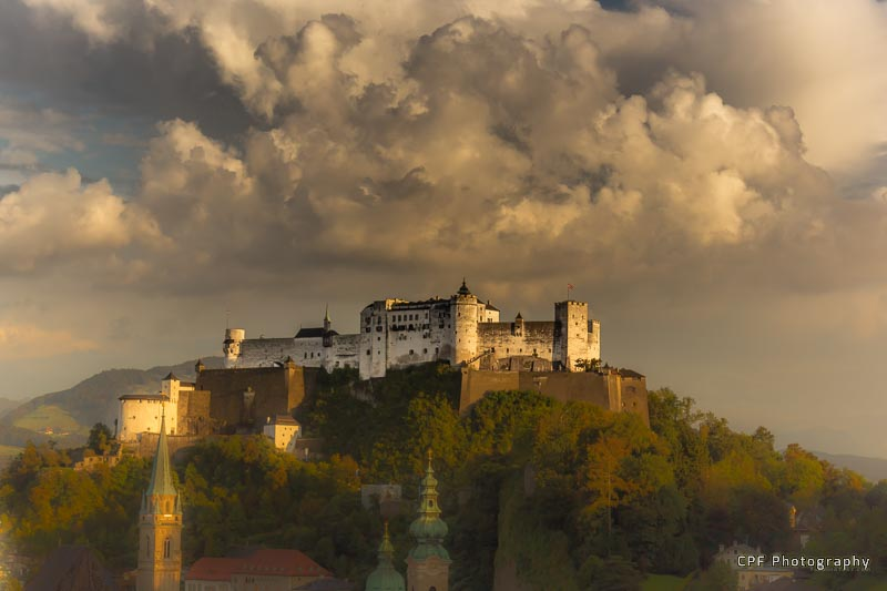 Hohensalzburg Fortress, dominating the Salzburg Skyline