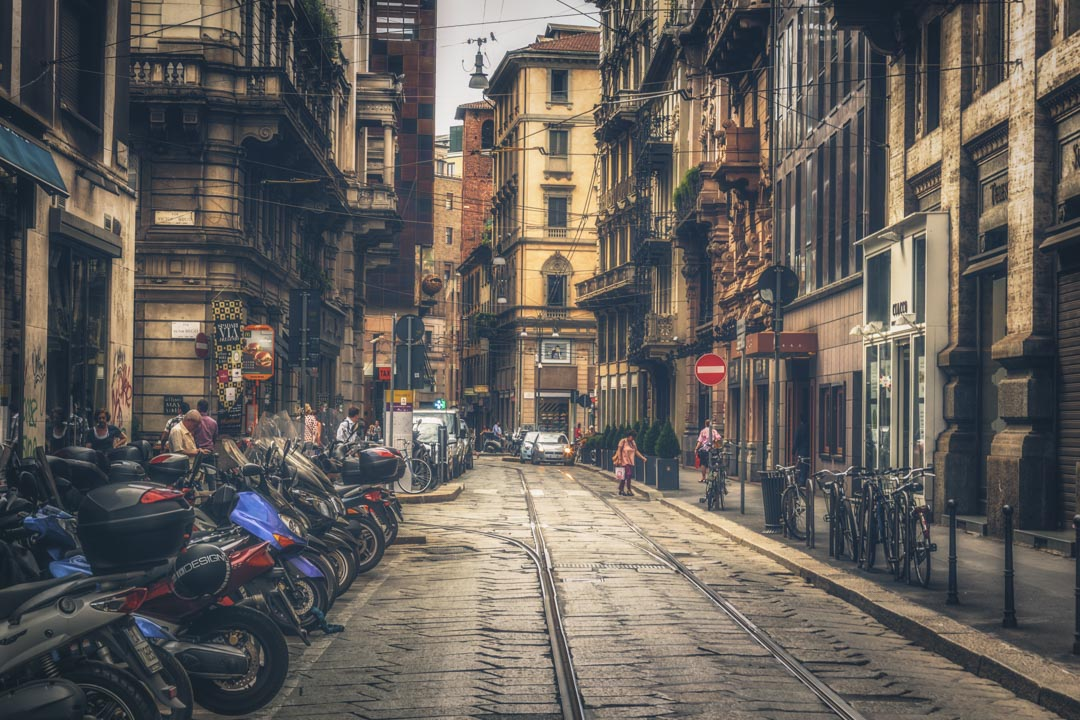 A Milan Street Scene by CPF Photography: How I lost my heart to Italy