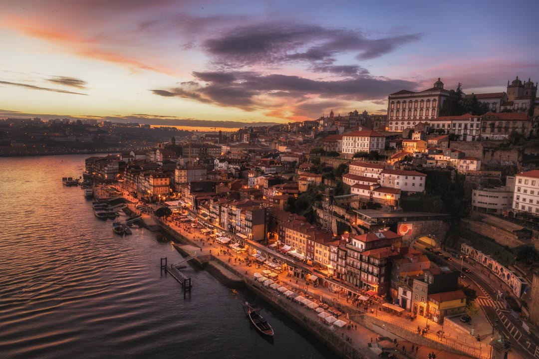 Sunset over Porto, Portugal