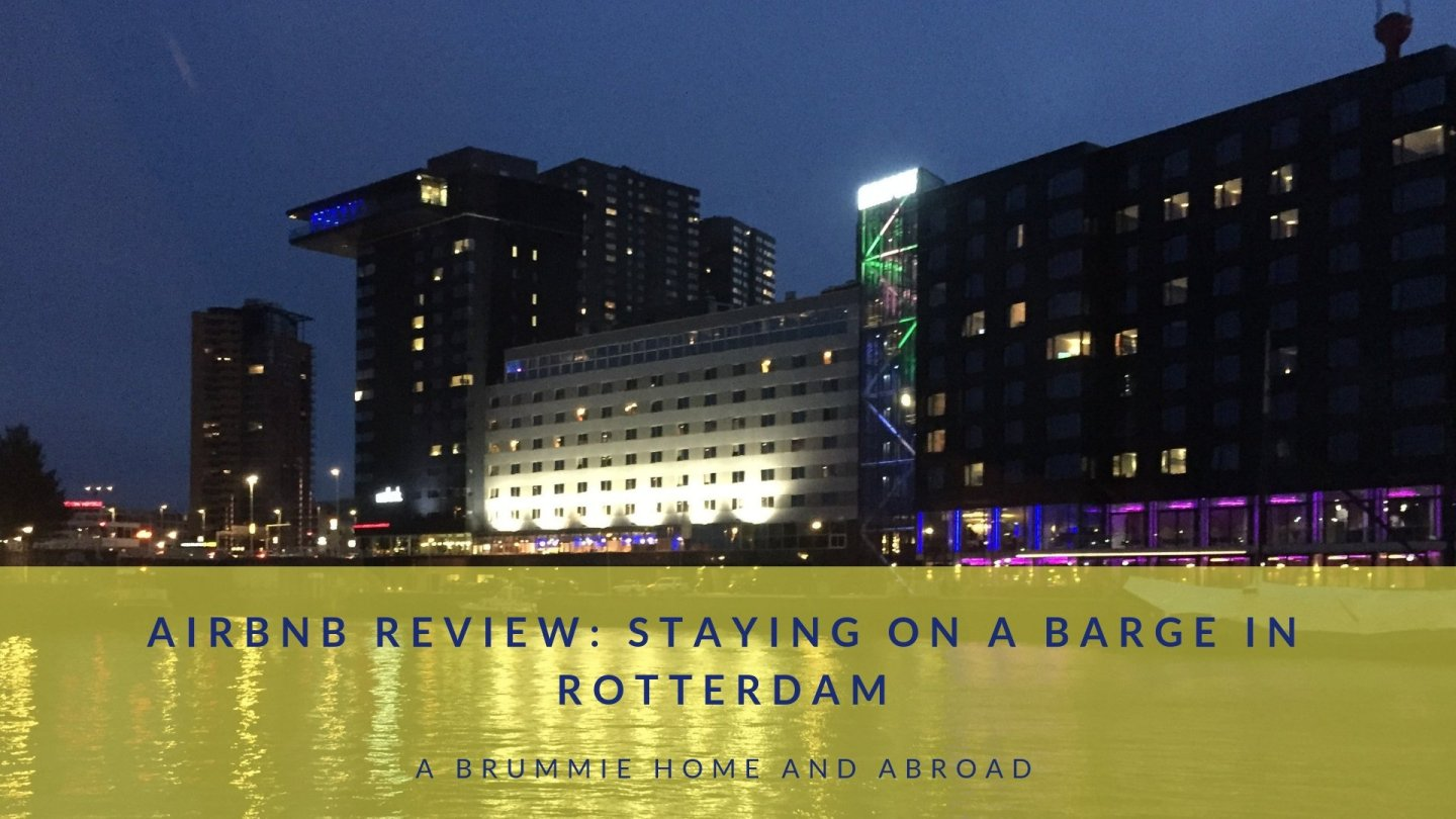AirBnB Review: Why stay in a boring hotel when you can spend your weekend on a barge? Here's a quick look at our Rotterdam Airbnb experience!