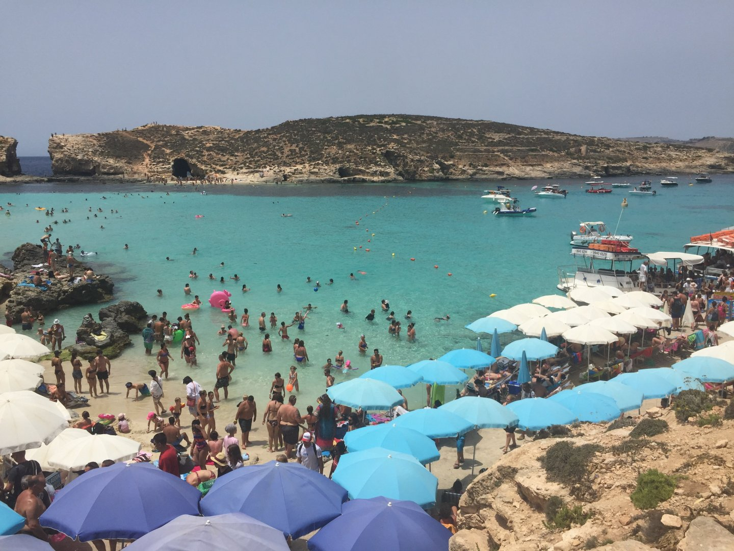 Malta Travel Diaries: Comino Lagoons - Blue and Crystal. This is the reality of the Blue Lagoon!